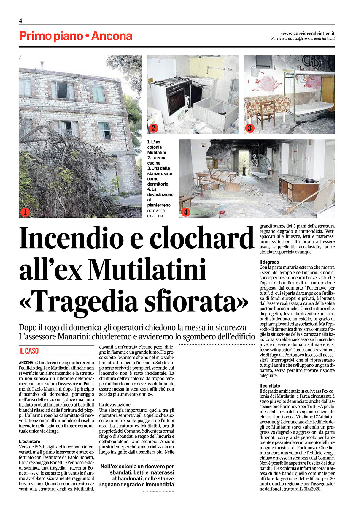 2017 05 16 c.a. incendio e clochard